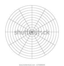 Polar Grid 10 Concentric Circles 30 Stock Image Download Now