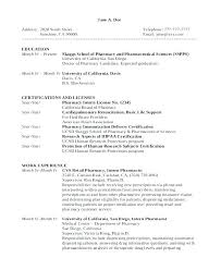 Pharmacist Resume Objective Sample Resume Pharmacy Technician Pharmacist Resume Sample Cv Pharmacy 40