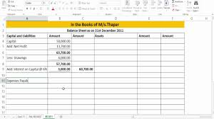 PL Sheet Preparation Of Revised PL And Balance Sheet Case Study 24 YouTube 1