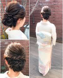 訪問着色留袖に合う髪型10選結婚式のお呼ばれに自分でできる髪型も