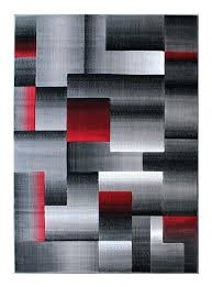 black and red area rugs rugs modern contemporary area rug red grey black 8 feet x