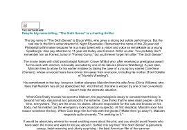 tips for writing the the sixth sense essay the sixth sense film critique essay diamondlife