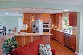 kitchen cabinets with alder wood full overlay revere doors crown molding
