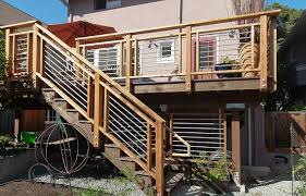 metal handrails for deck stairs. deck railing ideas | cool-looking, cost-efficient design metal handrails for stairs
