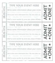 Fundraiser Ticket Template Free Download Magnificent Free Event Ticket Templates For Word Picture Ticket Template