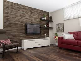 textured wall panels in a living room