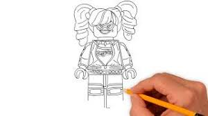 Harley quinn coloring pages are images with the popular character who is familiar to us thanks to a series of comic books, cartoons, movies and video games with her participation. How To Draw Lego Harley Quinn Coloring Pages Draw Step By Step Super Coloring For Kids 2018 Youtube