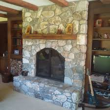 4 6 inch new england field stone veneer we built the fireplace too