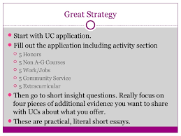 writing great uc personal insight question responses individual and collaborative