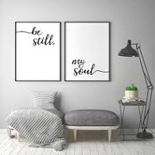 bedroom wall decorating ideas. Be Still My Soul Print - Poster Still My Soul  Printable Monochrome Typogra. Bedroom WallBEDROOM DECORBedroom IdeasBedroom Bedroom Wall Decorating Ideas