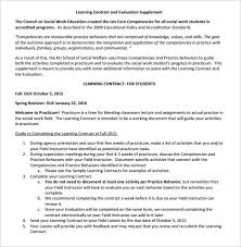 15 Learning Contract Templates To Download For Free | Sample Templates