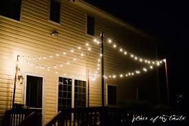 hang string lights on your deck an easy way hanging string lights