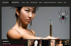 "Jeanette Lee ""The Black Widow"" website. Design, XHTML/CSS, Flash, PHP, JavaScript - 2007_jeanettelee.com"