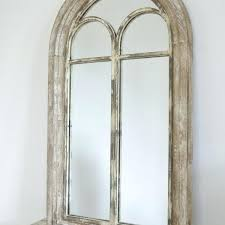 arched wall mirror rustic style french country distressed wood window