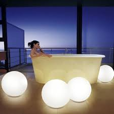 outdoor lighting balls. Amazon.com: Mr.Go 16-inch Indoor/Outdoor Waterproof Rechargeable LED Glowing Ball Globe Lamp W/ Remote, 16 RGB Colors \u0026 4 Light Effects, Ideal For Home Pool Outdoor Lighting Balls I