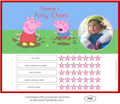 Free Potty Training Reward Chart And Stickers Free Peppa Pig Potty Training Charts Customize With Your Photo