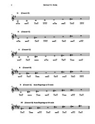 Baritone Treble Clef Major Scales With Fingerings By Johnson