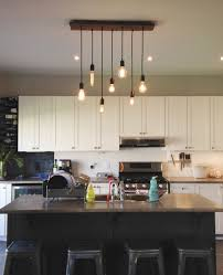 rustic pendant lighting kitchen. Kitchen Lighting - Wood Chandelier With Pendant Lights Modern Rustic Home Light Fixture LED By HangoutLighting On Etsy P