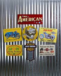 galvanized metal signs use magnets to mount signs on a sheet of galvanized metal we found