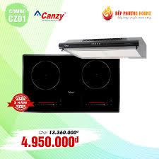 Combo Bếp hai từ Canzy CZ06I và Máy hút mùi Canzy CZ2060B