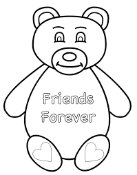 Small Picture Teddy Bear Friends Forever Coloring Page Animals Coloring Book