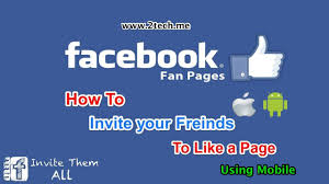 how to invite your friends to like