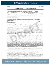 Hunting Rental And Lease Form Unique Commercial Lease Agreement Legal Templates