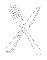 Small Picture Fork and knife coloring page Download Free Fork and knife