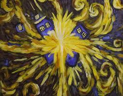 tardis van gogh painting by viishart