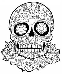 Small Picture Download Printable Day Of The Dead Sugar Skulls Coloring Pages