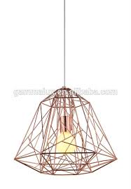 birdcage light shade new design diamond shaped cage copper lamp shade hanging lamp foyer paint
