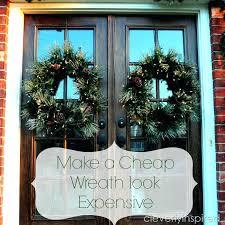 double door wreaths big wreath for little money wreath 2 double glazed door wreath hanger