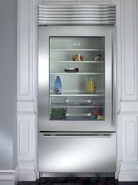 sub zero glass door refrigerator on modern home designing ideas with front freezer residential cool attrac