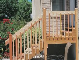 wood exterior stair railing kits