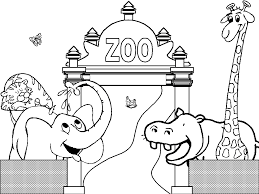 Small Picture Free Printable Zoo Coloring Pages For Kids Coloring Page Of Zoo