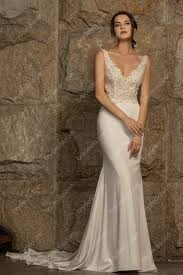 Beaded Designer Wedding Gowns Elegant Beaded Lace Satin Mermaid Wedding Dress