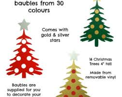 Christmas Tree Alternative Wall Decals From Subhuti  Apartment Christmas Tree Decals