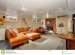 Orange Couch Living Room Secondary Living Room With Orange Couch Stock Photo Image 57543938
