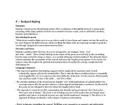 if by rudyard kipling analysis gcse english marked by teachers com document image preview