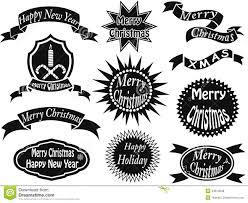 Black Christmas Labels Stock Vector Illustration Of Circle 34614098