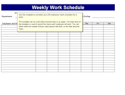 timesheet schedule weekly work schedule template shatterlion info