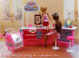 Girl Gift Plastic Play Set Candy And Ice Cream Shop Gift Set Doll