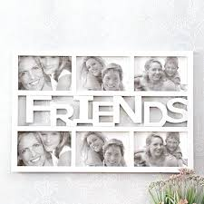 white collage photo frame white distressed wood