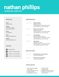 Marketing Professional Resume Template Venngage