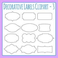 Labels With Border Decorative Label Border Clip Art Pack 03 For Commercial Use