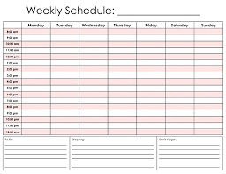 Printable Hourly Weekly Schedule Hour Daily Schedule Template New Printable Hourly Calendar