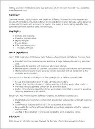 Resume For Grocery Store Clerk Courtesy Clerk Resume Grocery Store