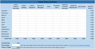 small business tax spreadsheet home office tax expenses