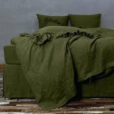 ikea linblomma linen duvet cover bespoke green quilt set by
