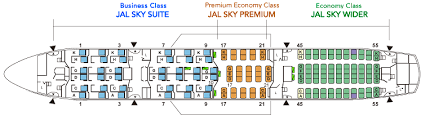 787 Airlines Seating Chart Japan Airlines Fleet Boeing 787 8 Dreamliner Details And